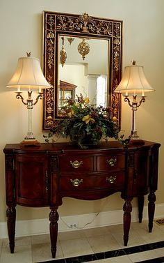 FOYER TABLES - Google Search Lovely piece for formal foyer.