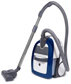 Navy blue vacuum cleaner
