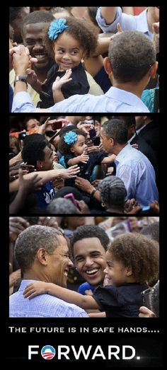 Forward::The future is in safe hands. President Obama has a great rapport with children. They seem to gravitate to him. Election2012.  www.ShadesGifts.com
