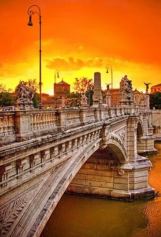 Sunset in Rome, province of Rome , Lazio