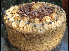 Moje pyszne, łatwe i sprawdzone przepisy :-) : Wspaniały tort orzechowy z kremem z masłem orzechowym +FILM Tiramisu, Food And Drink, Ethnic Recipes, Film, Youtube, Backen, Movie, Movies, Film Stock