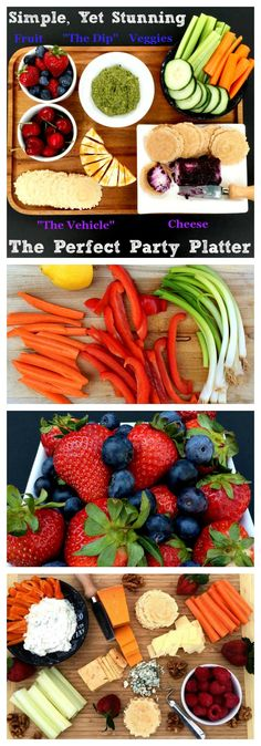 Fruit, cheese and veggies galore: how to create a simple, yet stunning snack platter for all your entertaining needs. Make Ahead Meals, Easy Family Meals, Quick Meals, Family Recipes, Kitsch, Vegetarian Recipes, Healthy Recipes, Delicious Recipes, Easy Recipes