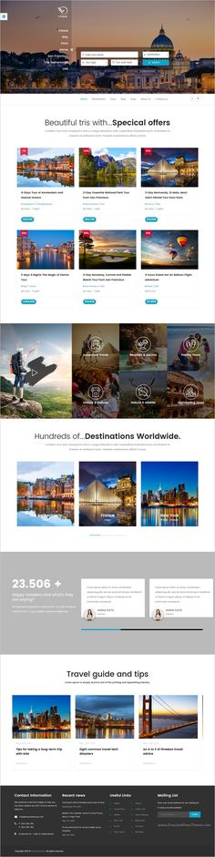inTravel is a best responsive #WordPress theme for  #webdesign #travel and tour agency booking website with 6 unique homepage layouts download now➩  https://themeforest.net/item/intravel-travel-booking-tour-wordpress-theme/18442233?ref=Datasata