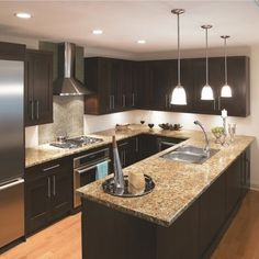 Kitchen Dark Cabinets Light Flooring Design, Pictures, Remodel, Decor and Ideas