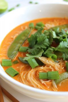 Thai Red Curry Noodle Soup - pumpkinandpeanutbutter