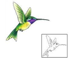 Show details for Hummingbird Tattoo GSF-01432