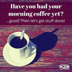 via @kimgarst  Have you had your morning coffee yet?  Good!  Then let's get 'er done.  http://ift.tt/1H6hyQe  Facebook/smpsocialmediamarketing  Twitter @smpsocialmedia