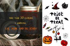 Halloween party elements by lukowkina_art on Creative Market