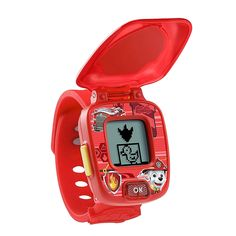 Vtech Paw Patrol Marshall Learning Watch Multi - Be ready for rescue-packed action anytime with the PAW Patrol Chase Learning Watch by VTech. The fire fighting pup of PAW Patrol guides your child through interactive games. Plus, the adjustable, digital watch plays fun sounds and effects.