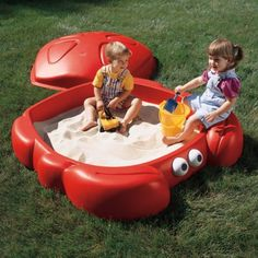 Funny Red Sandbox Shaped Like A Crab | Kidsomania