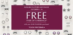 Free Pair of Earrings. Click for Details.