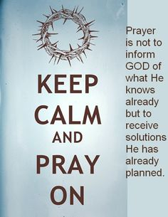 Pray, trust, rest and obey.