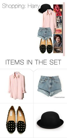 """""""Shopping with Harry"""" by dressingupwith1d ❤ liked on Polyvore featuring art, one direction, harry styles and harry"""