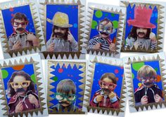 les petites têtes de l'art: Les petits saltimbanques avec bordure couronne