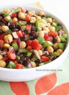 Lemon Pepper Garbanzo Salad