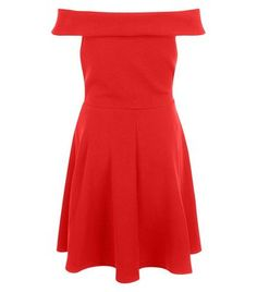 Teens. This red bardot neck skater dress is perfect for special events this…