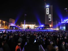 Lichtfest (Festival of Light) in Leipzig. Held annually on October 9 to commemorate the peaceful revolution in 1989.