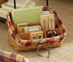 Sort & Store Large Desktop Basket from Longaberger - handmade in Ohio - love this in my office