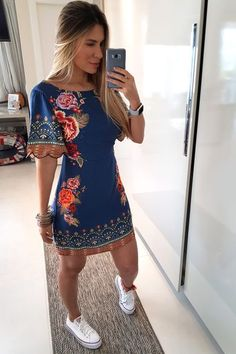 Jewellery For Lady - Casual Dresses, Short Dresses, Casual Outfits, Summer Outfits, Fashion Dresses, Colorful Fashion, Love Fashion, Chic Summer Style, Vetement Fashion