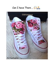 Trend & idea Women Shoes Description Summer Floral Converse Shoes by ChaoticMayhem on Etsy - Converse Floral, Diy Converse, Converse Sneakers, Floral Shoes, Converse High, Custom Converse, White Converse, Converse Shoes For Girls, Girls Shoes