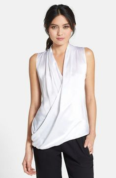 Bailey 44 'Gossip Session' Silk Front Drape Top available at #Nordstrom