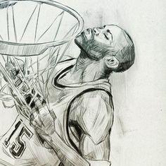 LeBron James Living Color Painting | Lebron james, Lebron ...Drawings Of Vince Carter