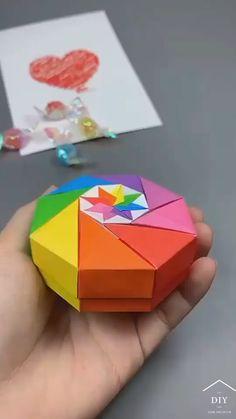 Diy Crafts Hacks, Diy Crafts For Gifts, Diy Arts And Crafts, Creative Crafts, Diy Crafts Videos, Home Crafts, Cool Paper Crafts, Paper Crafts Origami, Diy Paper