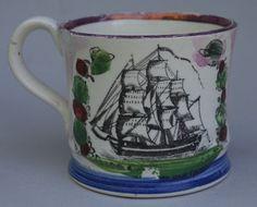 Antique Pottery Pearlware Transfer Sunderland Lustre Mug Dedicated THOMAS 1825 | eBay, sold for £132.00