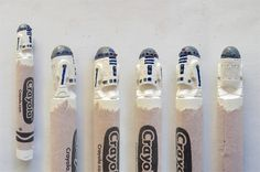 Pop Culture Icons Impressively Carved into Crayola Crayons - My Modern Metropolis