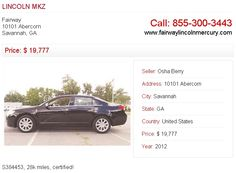 For more information about 2012 LINCOLN MKZ visit http://www.tell-n-sell.com/car-2012-LINCOLN-MKZ-20011-33.aspx