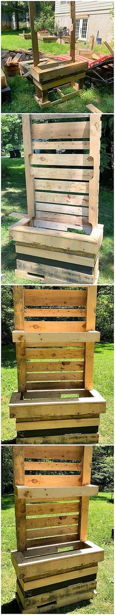 Cheap DIY Creations with Recycled Wood Pallets: Recycling the wood pallet into unique and interesting ideas and projects can be made possible when you take the help of some. Pallet Bunk Beds, Wood Pallet Tables, Pallet Couch, Pallet Furniture, Wood Pallets, Pallet Designs, Pallet Ideas, Pallet Projects, Outdoor Pallet Bar