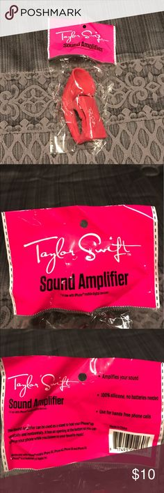 Taylor Swift Sound Amplifier Taylor Swift sound amplifier for your phone. Still in plastic, never been opened. Other