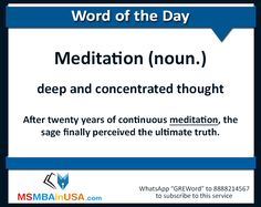 #gre #greword #wordoftheday #msinusa Word Of The Day, New Words, The Twenties, Meditation, How To Get, Thoughts, Learning, Word A Day, Studying