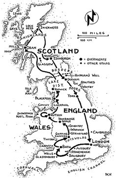 Britain's Best Three Week Trip: Great Britain itinerary map http://www.ricksteves.com/plan/destinations/britain/brit22.htm#