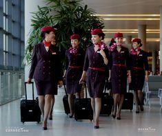 Shanghai Airlines cabin crew uniform
