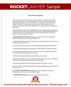 Sample letterhead with board of directors listed google search lawn service contract template with sample lawn maintenance contract agreement spiritdancerdesigns Choice Image