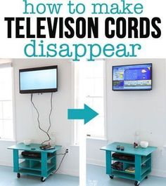 Hate those pesky cords hanging down on the wall from a wall mounted TV? Check this out...how to hide the cords on a wall mounted TV. It only requires a few tools and about 2 hours of your time.