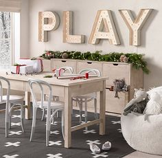 a tall play table for bigger kids keeps little hands busy when temperatures dip. #rhbabyandchild