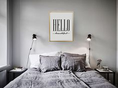 Quote Print Hello Beautiful Wall Art Typography by LovelyPosters