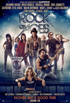 Rock of Ages, getting ready to watch, had my son pick up tonight,,hope it's good.... thumbs down save your money unless you like musicals or glee.Some great songs but they are being butched by the singer, and Tom is not a rocker he was better in risky business..