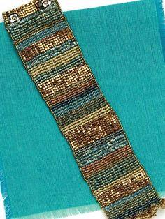 Ruffled Tapestry Cuff; Melinda Barta; Quick & Easy Beadwork, 2014 | InterweaveStore.com