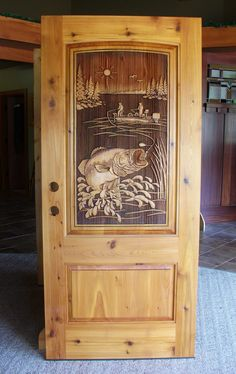 Hand carved to perfection, Great River Door Co. offers beautiful carved wood front doors for homes, lake houses & cabins. Check out our gallery & call today. Country Front Door, Wood Front Doors, Entry Doors, Cabin Doors, House Doors, Cool Doors, Unique Doors, Custom Wood Doors, Wooden Doors