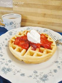 Frugal Foodie Mama: Strawberry Cheesecake Waffles
