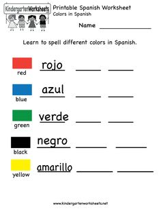 Printables Bilingual Worksheets spanish kindergarten and worksheets on pinterest printable worksheet free learning for