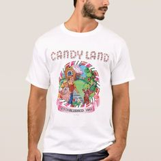 Shop Candy Land Established 1945 T-Shirt created by candyland. Personalize it with photos & text or purchase as is! Candy Costumes, T Shirt Costumes, Holiday Cartoon, Candy Theme, Cartoon T Shirts, Popular Christmas Gifts, Candyland, Fitness Models, Diy