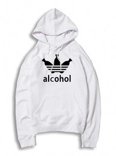 3356b62df Adidas Parody Alcohol Hoodie Cheap Custom From statement pullover styles