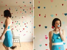 Floating heart backdrop! Perfect for a picture backdrop!