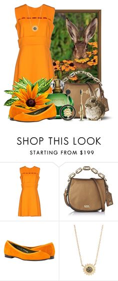 """""""Spring Bunny and His Yummy Flowers"""" by queenrachietemplateaddict ❤ liked on Polyvore featuring Emilio Pucci, Karl Lagerfeld, Jamie Wolf, Versace 19•69, GREEN, orange and Rabbit"""