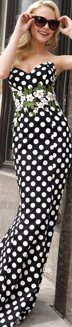 New fashion spring business polka dots Ideas Dots Fashion, White Fashion, Trendy Fashion, Spring Fashion, Beautiful Outfits, Cool Outfits, Special Occasion Dresses, Evening Dresses, Prom Dresses