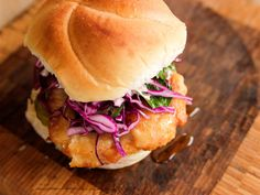 Spicy Fried Chicken Sandwich recipe from Ree Drummond via Food Network